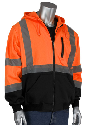 multiple styles of hi-vis sweatshirts